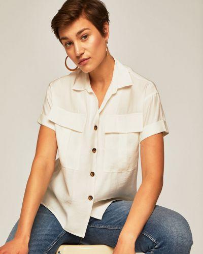 Блузка с коротким рукавом однотонная белая Medicine