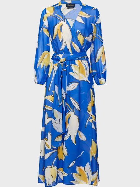 Шелковое платье - голубое Luisa Spagnoli