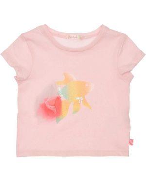 Розовая футболка с вышивкой с принтом Billieblush