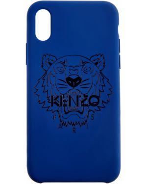 Силиконовые футляр для очков - синие Kenzo