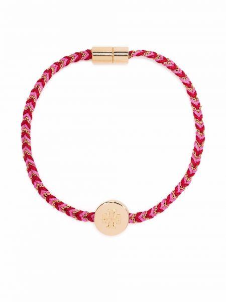 Розовый браслет металлический Tory Burch