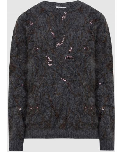 Деловой серый свитер с пайетками Brunello Cucinelli
