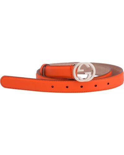 Ремень оранжевый Gucci