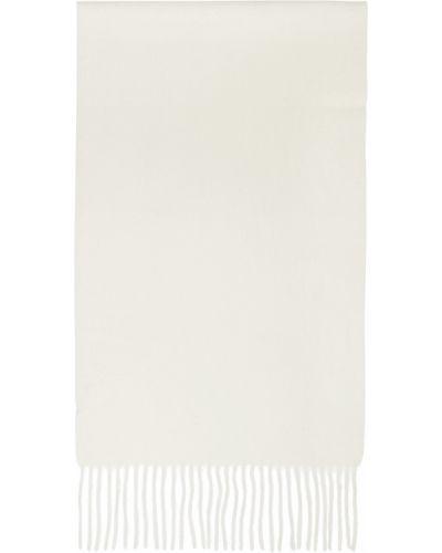 Z kaszmiru szalik - biały Beams Plus