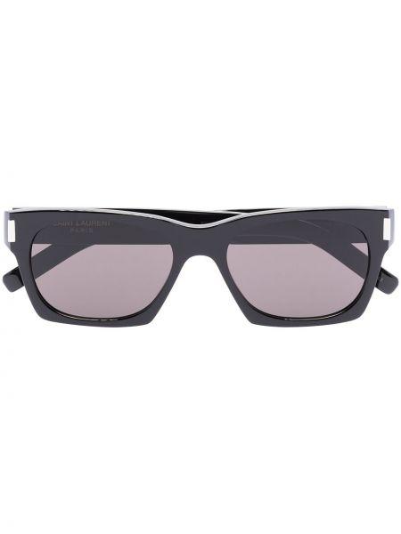 Акриловые черные солнцезащитные очки квадратные Saint Laurent Eyewear