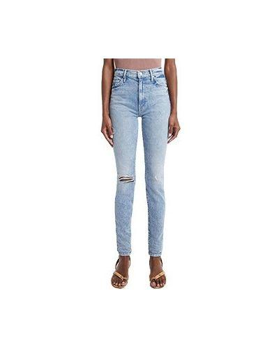 Хлопковые зауженные джинсы-скинни Mother