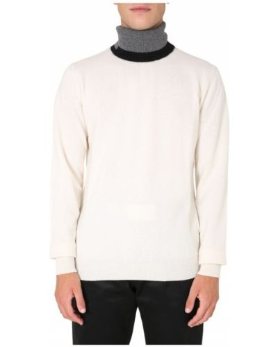 Prążkowany z kaszmiru biały długi sweter Maison Margiela