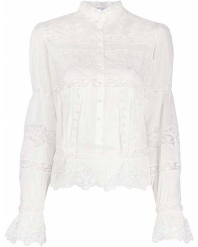 Bawełna bluzka z długimi rękawami z haftem Ermanno Scervino