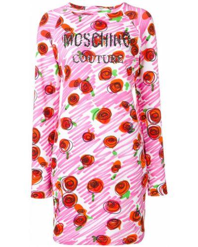 Облегающее платье длинное с рукавами Moschino