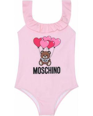 Купальник с принтом розовый Moschino Kids