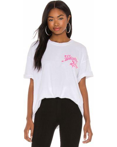 Różowy t-shirt bawełniany z printem Boys Lie