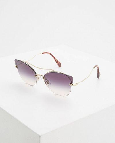 Солнцезащитные очки золотого цвета Miu Miu