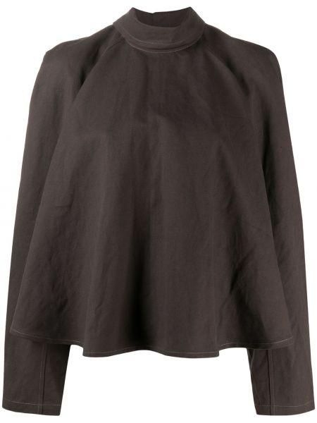 Bawełna brązowy bielizna koszula z długimi rękawami Lemaire