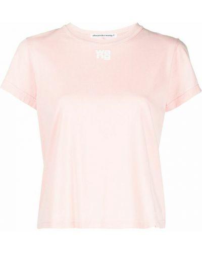 T-shirt - różowa Alexander Wang