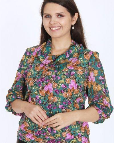 Трикотажная блузка с воротником свободного кроя аhalodensa