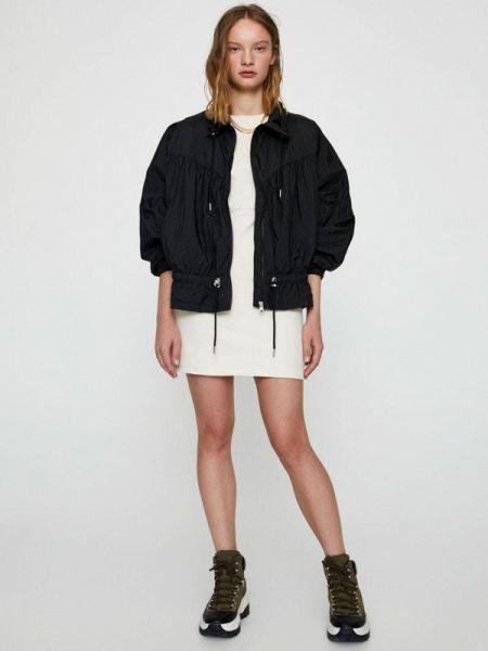 Куртка черная осенняя Pull&bear