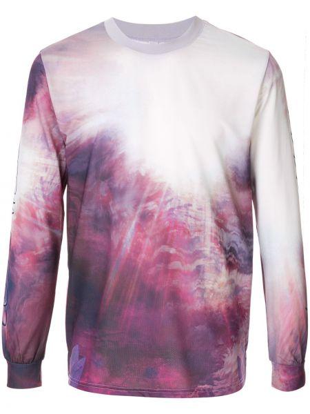 Fioletowa bluza z długimi rękawami z printem Cottweiler