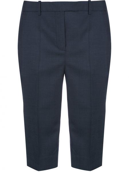 Синие хлопковые шорты с карманами Givenchy