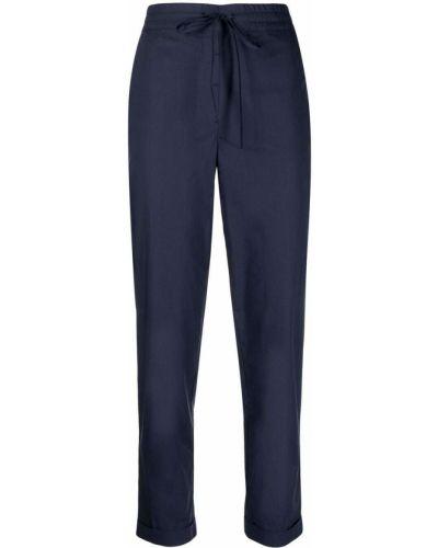 Синие прямые укороченные брюки с карманами Ballantyne