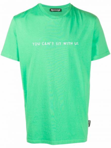 Zielona koszulka z printem Nasaseasons