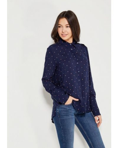 Синяя блузка Mango