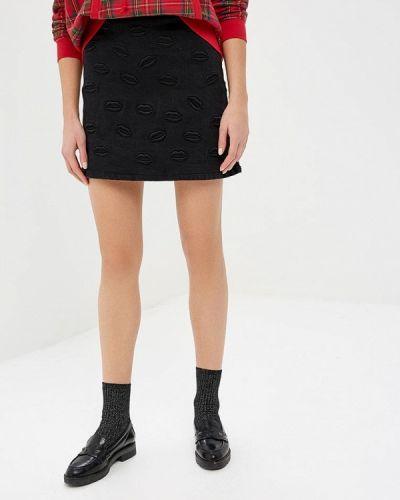 Джинсовая юбка - черная Top Secret