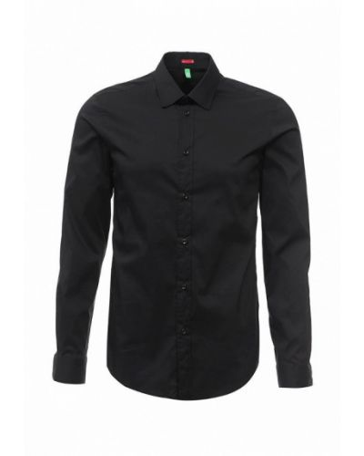 Черная рубашка с длинным рукавом United Colors Of Benetton