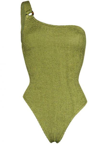Нейлоновый зеленый пляжный купальник Hunza G