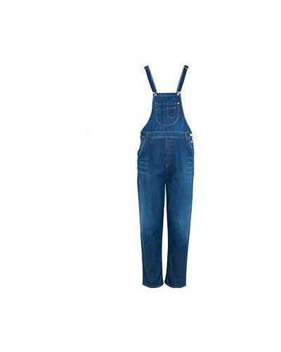 Синий джинсовый комбинезон Armani Jeans