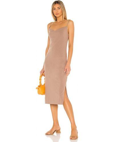 Коричневое трикотажное платье с подкладкой Bobi