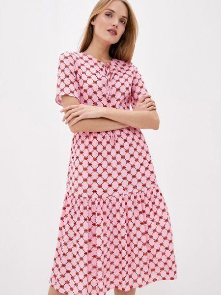Повседневное платье розовое весеннее Markus Lupfer