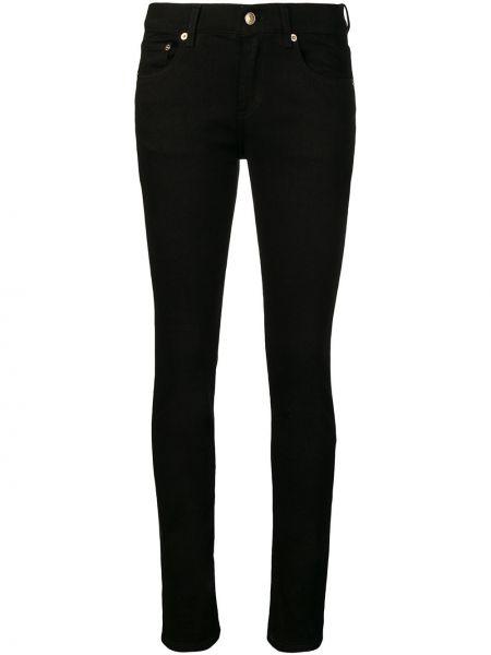 Черные классические брюки с карманами узкого кроя на пуговицах Versus