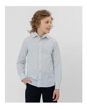 Рубашка в полоску серая Button Blue