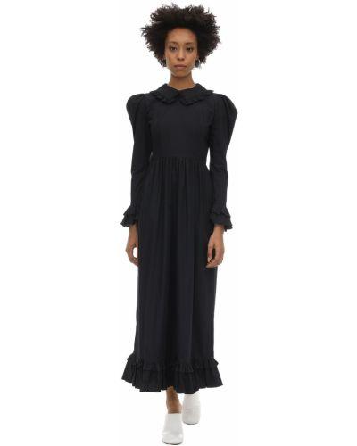 Платье макси через плечо из поплина Batsheva