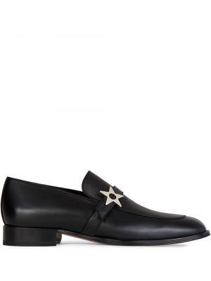 Z paskiem czarny loafers z prawdziwej skóry Giuseppe Zanotti