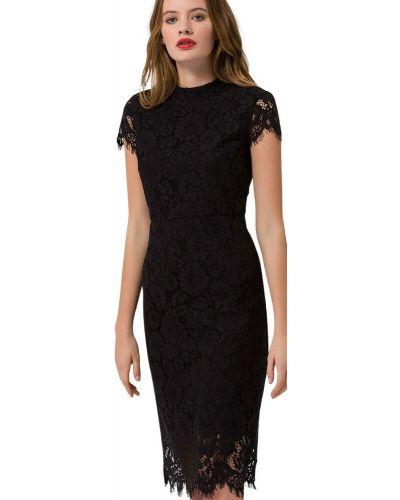 Czarna sukienka koronkowa Ivy & Oak