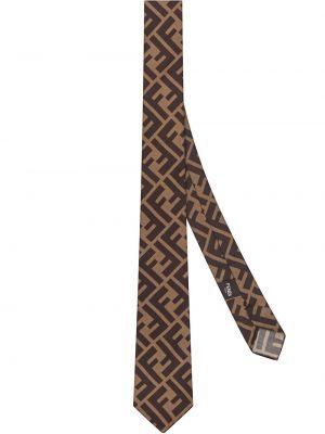 Krawat jedwab Fendi