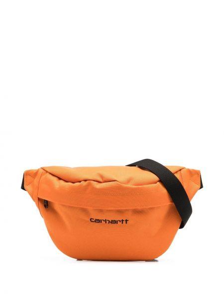 Оранжевая поясная сумка на молнии с карманами Carhartt Wip