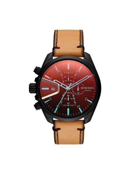Zegarek na skórzanym pasku skórzany - czarny Diesel
