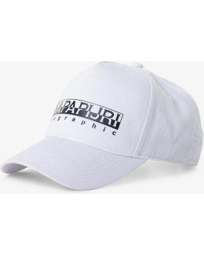 Biały czapka z daszkiem Napapijri