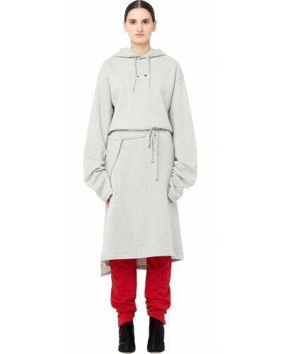 Платье с поясом с вышивкой с капюшоном Vetements