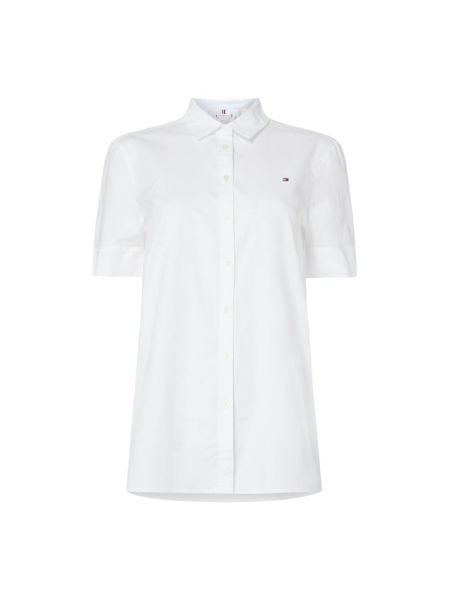 Bluzka krótki rękaw z haftem bawełniana Tommy Hilfiger