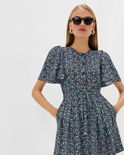 Повседневное платье весеннее красный French Connection