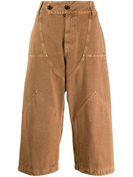 Укороченные брюки свободные с поясом Lanvin