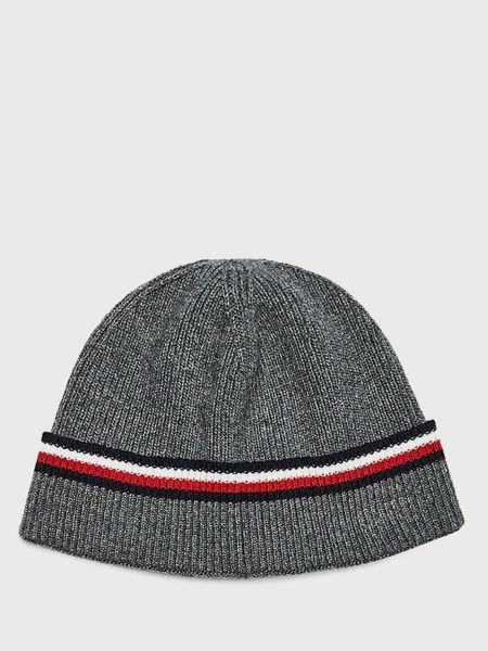 Кашемировая шапка - серая Tommy Hilfiger