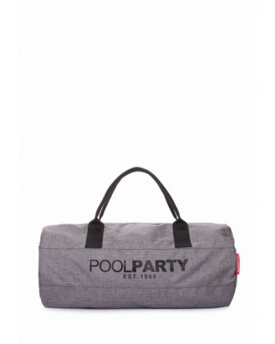 Серая спортивная сумка Poolparty