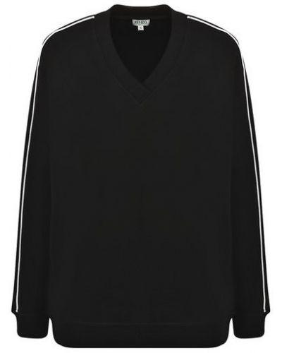 Пуловер с V-образным вырезом - черный Kenzo