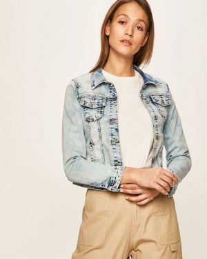 Niebieska kurtka jeansowa z kapturem bawełniana Hailys