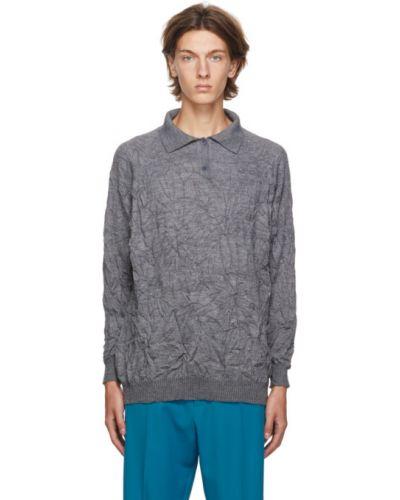 Sweter z kołnierzem z mankietami z długimi rękawami z haftem Balenciaga