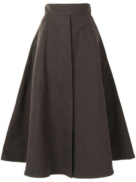 Spódnica rozkloszowana - brązowa Lemaire